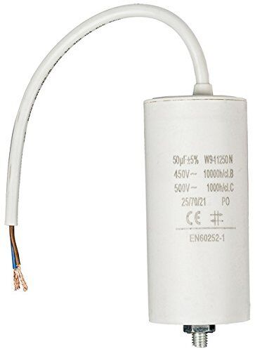 Betriebskondensator//Motorkondensator 140uF//µF CBB60 450V mit Kabel u Gewinde M8