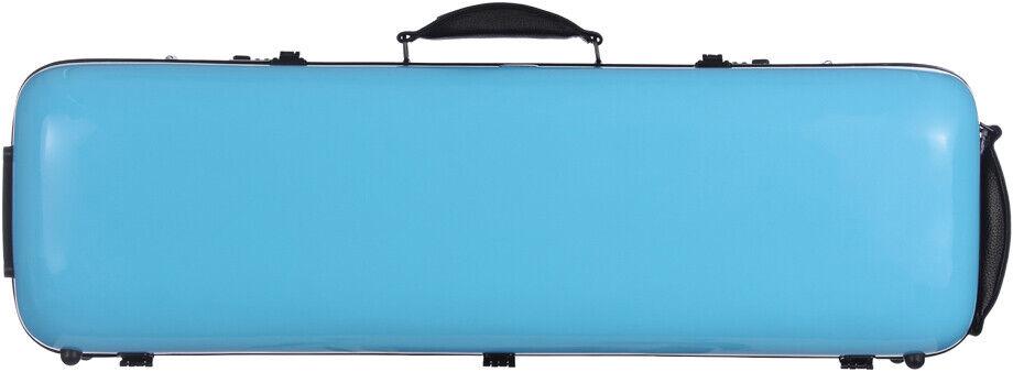 FR Étui en fibre de verre Fiberglass pour violon Safe Oblong 4 4 Mcase Blau Clai