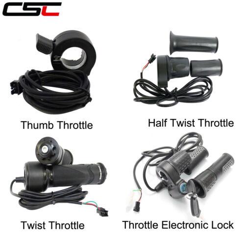 Electric Wheel Thumb Half Twist Throttle Splint Support Cable 1.5m 36V 48V Ebike