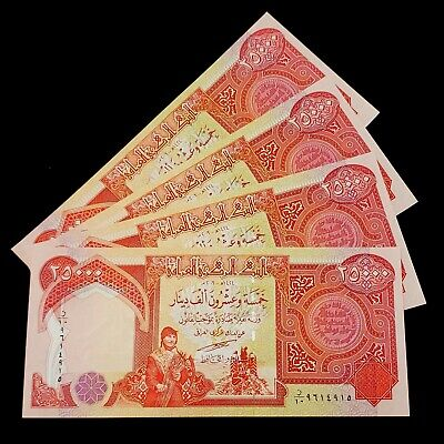 100,000 IRAQI DINAR IQD! 25,000 NOTES UNCIRCULATED AUTHENTIC! SALE ! 4