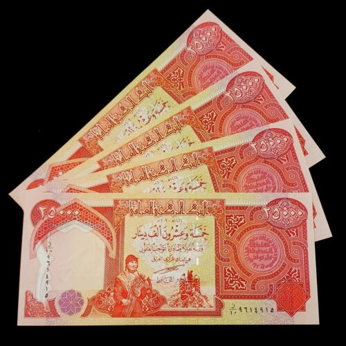 4 IQD!!! 25,000 NOTES UNCIRCULATED AUTHENTIC! SALE ! 100,000 IRAQI DINAR