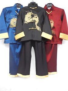 758e566798 Children s(BOYS) Oriental Japanese Chinese Kimono Style Pyjama 2-3 ...