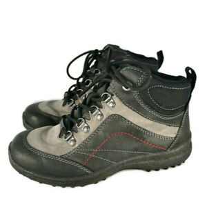 Hotter-Size-4-Leather-Womens-Goretex-Walking-Boots-2-Tone-Grey-Worn-Once