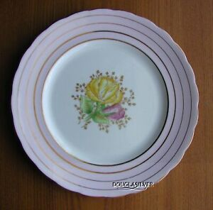 VICTORIA-CARTWRIGHT-amp-EDWARDS-ENGLAND-HAND-PAINTED-PLATE-PINK