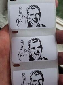 Middle Finger Guy Meme Sticker