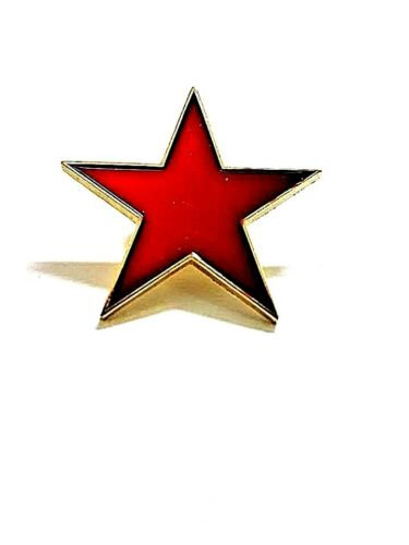 Red Star Enamel Pin Badge Marxist Socialist Communist Soviet