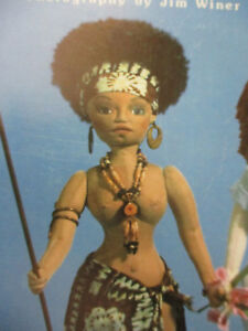 Doll-African-American-Princess-Mimi-039-s-Earth-Angels-Vintage-Pattern-Book-1986