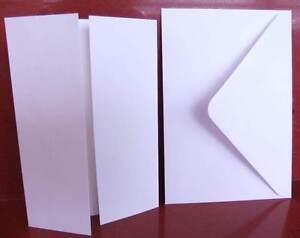 60 hammer white gatefold a6 card blanks plain envelopes diy wedding