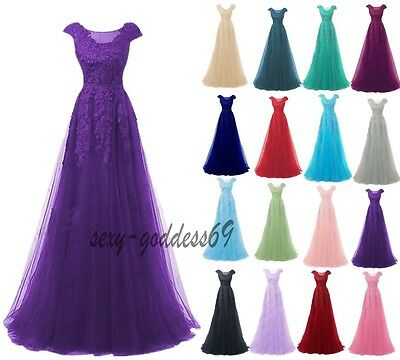 New Long Lace Women  Evening Prom Formal Bridesmaid Cocktail Party Dress 6-22