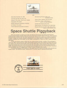9839-11-75-Space-Shuttle-747-Piggyback-Stamp-3262-Souvenir-Page