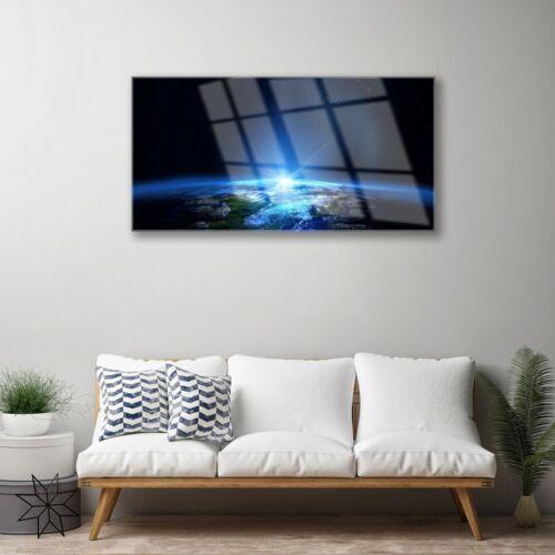 Glasbilder 100x50 Wandbild Druck auf Glas Abstrakt Weltall