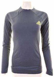ADIDAS-Womens-Top-Long-Sleeve-UK-12-Medium-Navy-Blue-Wool-KK09