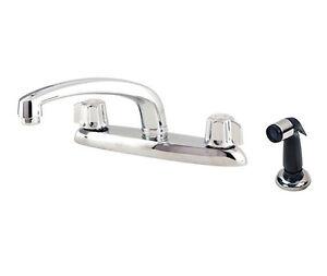Gerber Kitchen Faucet   Gerber Two Handle Kitchen Faucet W Spray 42 216 G Ebay