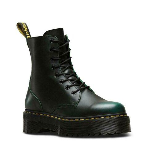 Dr Martens Jadon Vintage Green Leather Platform Double Sole Boots Unisex