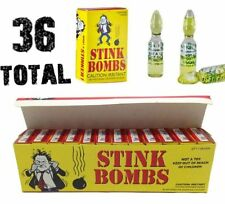 (36) Stink Bombs - Stinky Glass Gag Prank Fart Joke (1 case of 36)