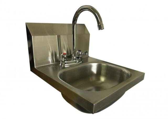 L Shaped Wall Mounted Stainless Steel Hand Wash Basin Sink Lever