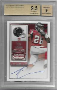 BGS 9.5 GEM MINT 2015 PANINI CONTENDERS ROOKIE TICKET TEVIN COLEMAN AUTO RC #237