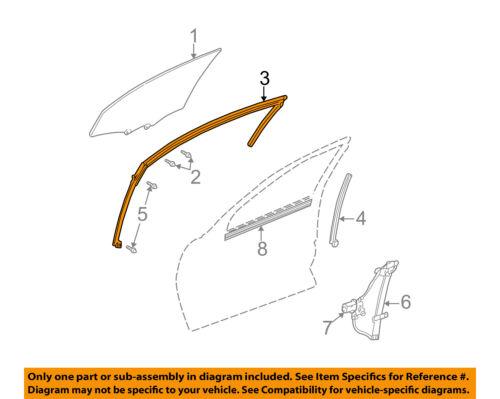 Chevrolet GM OEM 00-07 Monte Carlo Door-Run Channel Left 10329715