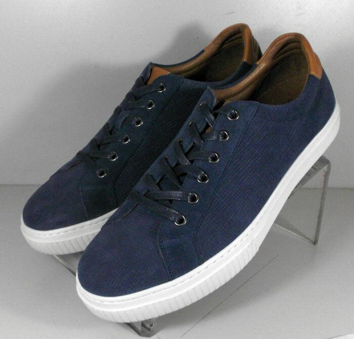 271989 SP50 Men's shoes Size 9 M Navy Leather Lace Up Johnston & Murphy