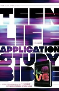 Teen-Life-Application-Study-Bible-NLT-LOVE-LeatherLike-Black-Tie-Dye