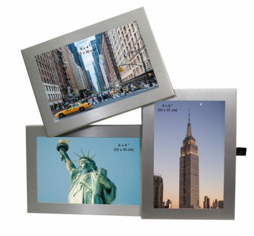 """3 photo couleur argent cadre photo 6 x 4/"""" multi cadre photo"""