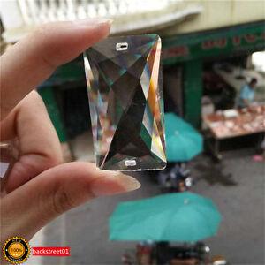 Clear-Crystal-Chandelier-Lamp-Part-Drop-Prism-Rainbow-Suncatcher-Pendant-50mm
