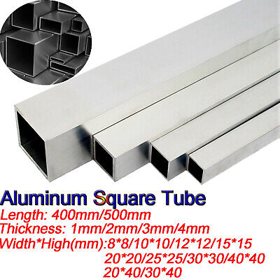 Aluminium Square Rectangular Tube Box Section Many sizes lengths Aluminum Alloy