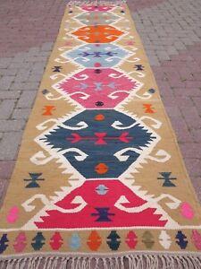 Anatolian Kilim Runner Rug Hallway Long