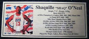 Basketball Shaq O'Neal Pic silver plaque free post****