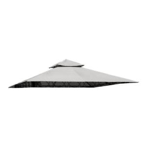 Telo top copertura ricambio per gazebo Eden 3x3 mt bianco 180 g/mq con airvent