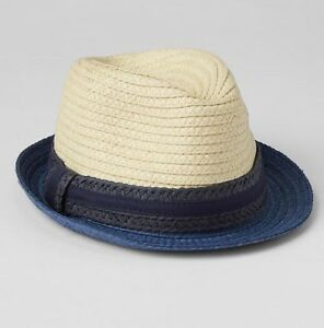Image is loading BABY-GAP-TODDLER-BOY-COLORBLOCK-NATURAL-STRAW-FEDORA- 2151bded7f9