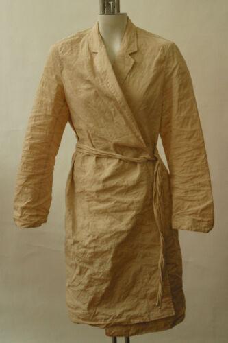 Donna Karan Tan Cotton Skirt suit Long Jacket Dist