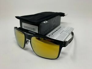 ea23955df019f NEW IN BOX Oakley Holbrook Metal Matte Black w 24k Iridium OO4123 ...
