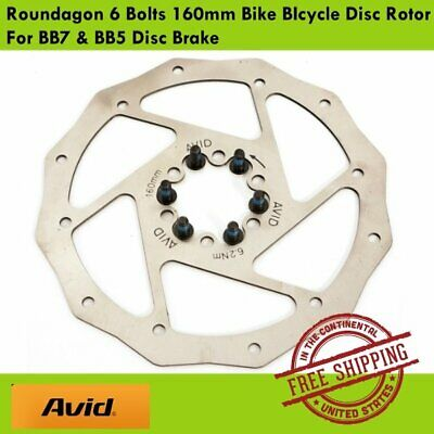 Avid Roundagon 6 Bolts Bike Disc Rotor 160mm for Avid BB7 /& BB5 Disc Brake