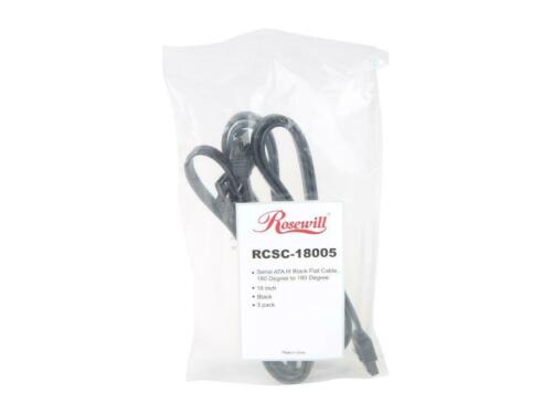 Rosewill SATA Cable Straight to Straight Connectors SATA III 6.0 Gbps, 3-Pack