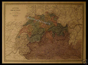 Irlanda Del Nord Cartina Geografica.Carta Geografica 1800 Italia Del Nord Svizzera Suisse Ebay