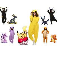 Adult Pajamas Pokemon Kigurumi Cosplay Hooded Costume Umbreon Pikachu Sleepwear