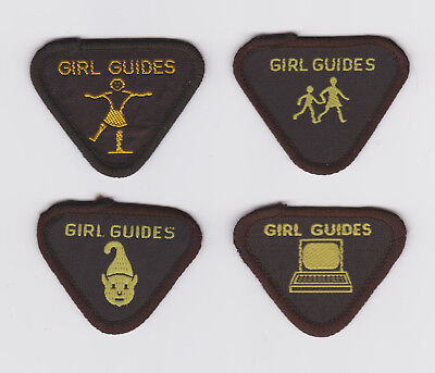 Vintage Girl Guide Brownie WRITER MERIT BADGE UK Quill Scroll Ink Pen Patch NEW