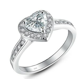 1-90-Ct-Sterling-Silver-Heart-Shaped-AAA-CZ-Halo-Engagement-Ring-Set-Size-5-10