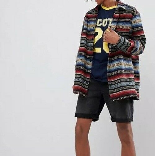 35a0fd0ca Hawk multi stripe size L BOX23 Sacred shirt nplvnl14590-Formal Shirts