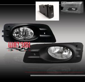 06-07 HONDA ACCORD SEDAN 4DR BUMPER JDM CLEAR FOG LIGHT LAMP+SWITCH+HARNESS+BULB  | eBayeBay