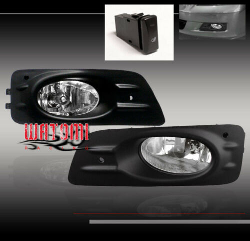 06-07 HONDA ACCORD SEDAN 4DR BUMPER JDM CLEAR FOG LIGHT LAMP+SWITCH+HARNESS+BULB