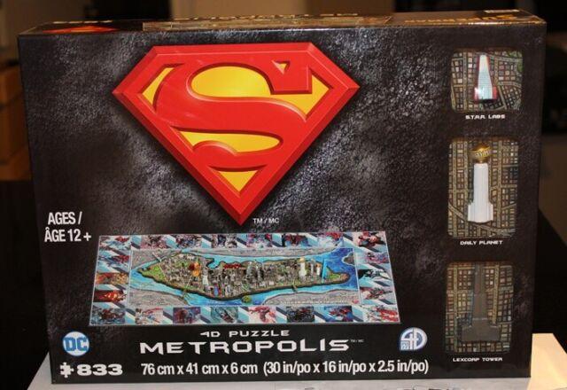DC Superman 4D Puzzle Metropolis Cityscape