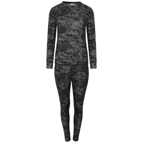 Ladies Womens Jogging Suit Milang Printed Army Camouflage Tracksuit