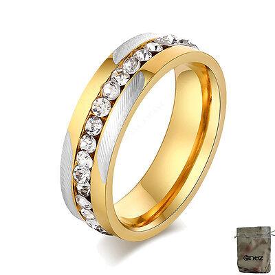Diszipliniert Original Enez Ring Trauring Ehering Edelstahlring Gr: 8 (18,1mm) B: 6mm R2646 +