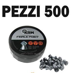 500 pallini finale match per carabina aria compressa cal. 4.5mm piombini krm - Italia - 500 pallini finale match per carabina aria compressa cal. 4.5mm piombini krm - Italia