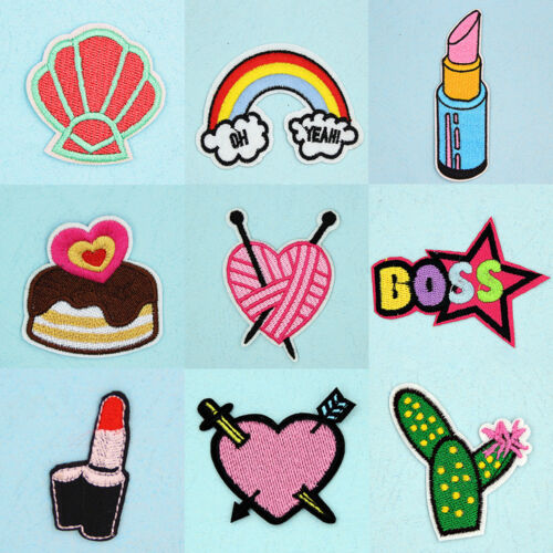 Embroidered Sew Iron On Patches Badge Bag Fabric Applique Craft Dress Transfer