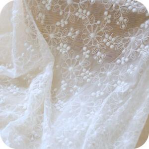 grossiste 2cadb c37f1 Détails sur Vintage Blanc Cassé Mariage Costume Dentelle Broderie Robe DIY  Tissu 0.5 M