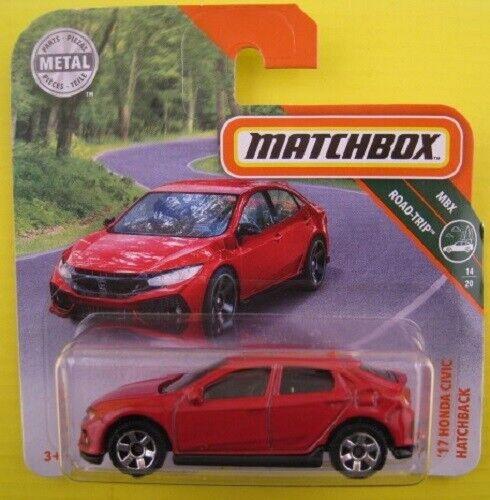 Honda Civic Hatchback  2017  Matchbox Road-Trip 14//20  1:64  OVP  NEU