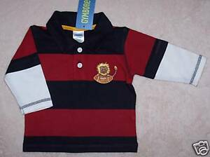 NWT 3-6 Months Gymboree VARSITY FOOTBALL Lion Striped Rugby Top Shirt
